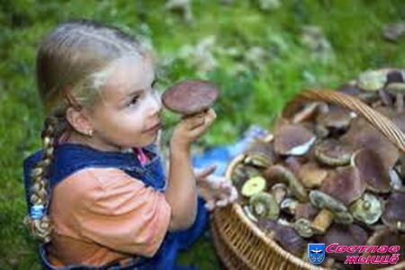 грибы, ребёнок, девочка