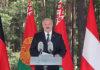 Александр Лукашенко выступает на митинге-реквиеме, посвященном памяти жертв нацизма