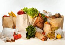 бумага, пакет, продукты, магазин