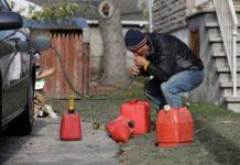 бензин, слив, бак, топливо