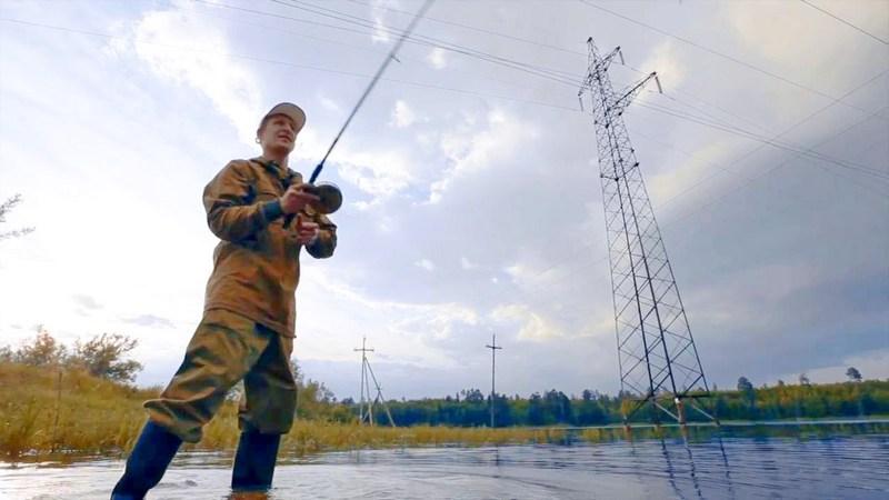 электробезопасность, линии, рыбалка, лето