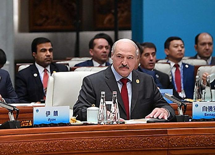 Александр Лукашенко на саммите ШОС