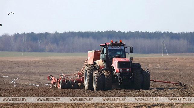 поле, обработка, трактор