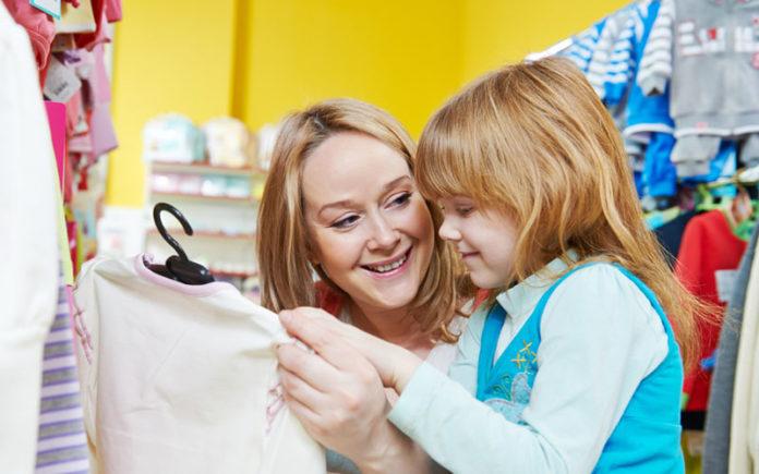 мать, ребенок, магазин, покупатель