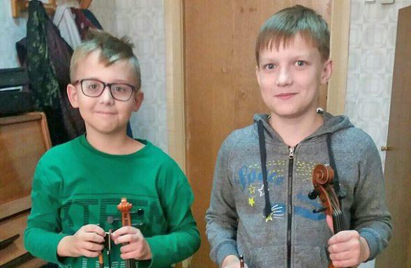 дети, скрипка