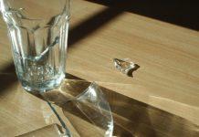 стакан, разбит, стекло