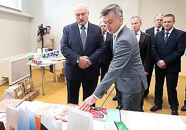 Во время посещения РУП Завод газетной бумаги в Шклове