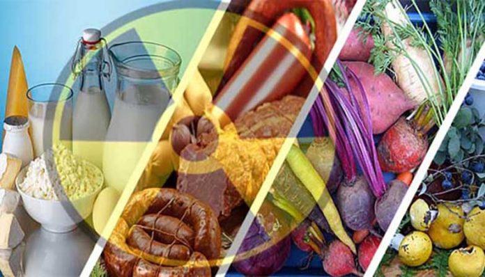 овощи, продукты, радиация