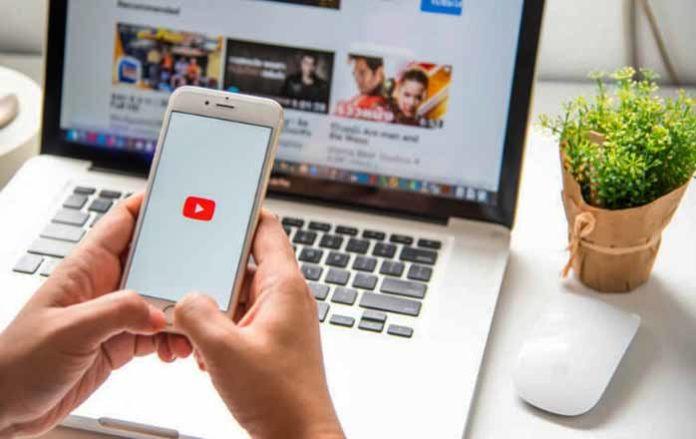 YouTube, ноутбук, компьютер