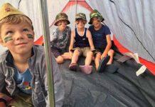 лагерь, дети