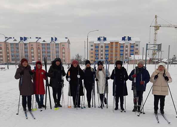 Лыжи, пенсионеры